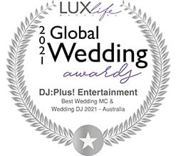 DJ:Plus! Entertainment Awarded Best Wedding MC & Best Wedding DJ Australia