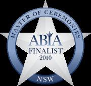 ABIA Finalist Best Master of Ceremonies (NSW) | DJ:Plus! Entertainment - 2010