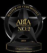 Best Wedding MC Australia - Runner-Up ABIA Designer Of Dreams 2018