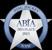 ABIA 3rd Best Wedding DJ (NSW) | DJ:Plus! Entertainment - 2013