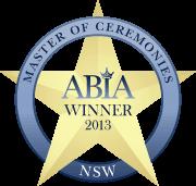 ABIA Winner Best Wedding Master Of Ceremonies (MC) (NSW) | DJ:Plus! Entertainment - 2013