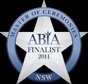 ABIA Finalist Best Master of Ceremonies (NSW) | DJ:Plus! Entertainment - 2011